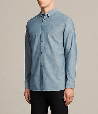 Men's Tulare Shirt (Blue) - product_image_alt_text_3