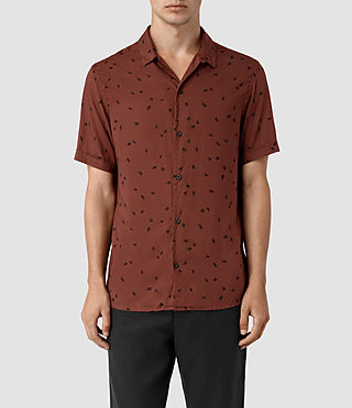 Hombres Nauvoo Short Sleeve Shirt (RUST BROWN)