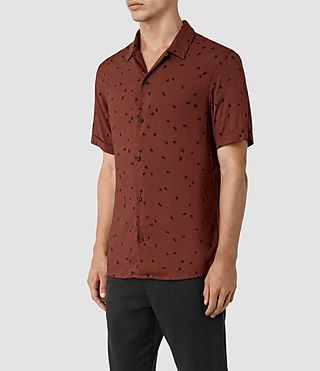 Mens Nauvoo Short Sleeve Shirt (RUST BROWN) - product_image_alt_text_2