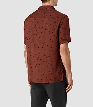 Mens Nauvoo Short Sleeve Shirt (RUST BROWN) - product_image_alt_text_3