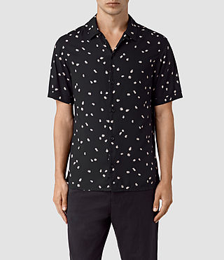 Hombres Nauvoo Short Sleeve Shirt (Black)