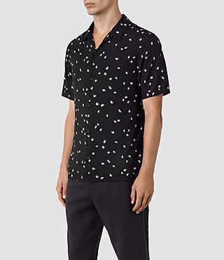 Hombres Nauvoo Short Sleeve Shirt (Black) - product_image_alt_text_2