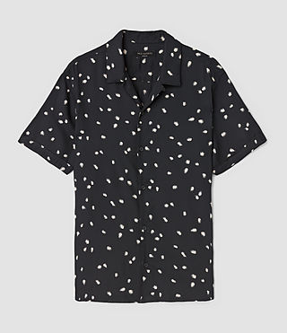 Hombres Nauvoo Short Sleeve Shirt (Black) - product_image_alt_text_3