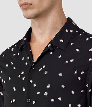 Mens Nauvoo Short Sleeve Shirt (Black) - product_image_alt_text_4
