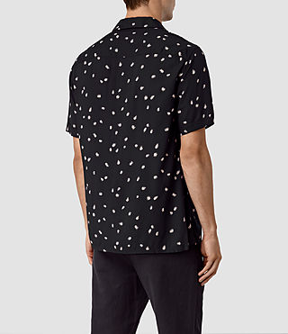 Hombres Nauvoo Short Sleeve Shirt (Black) - product_image_alt_text_5
