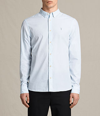 Hombres Camisa Kelso (LIGHT BLUE STRIPE)