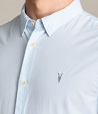 Men's Kelso Shirt (LIGHT BLUE STRIPE) - product_image_alt_text_2