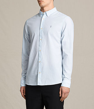 Men's Kelso Shirt (LIGHT BLUE STRIPE) - product_image_alt_text_3