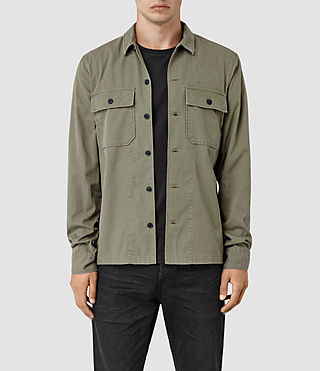 Mens Fearnot Shirt (Light Khaki Green) - product_image_alt_text_1