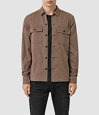 Hombre Fearnot Ls Shirt (Brown) - product_image_alt_text_1
