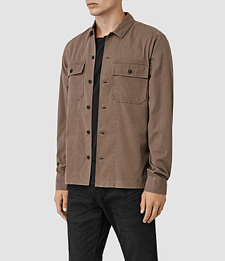 Hombre Fearnot Ls Shirt (Brown) - product_image_alt_text_2