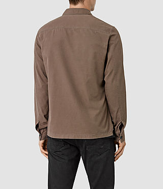 Uomo Fearnot Shirt (Brown) - product_image_alt_text_3