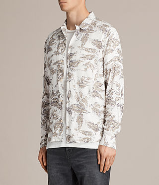 Mens Birch Shirt (ECRU WHITE) - Image 3