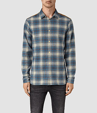 Mens Dresher Check Shirt (Grey Check) - product_image_alt_text_1