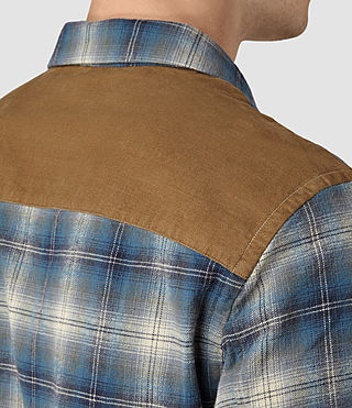 Mens Dresher Check Shirt (Grey Check) - product_image_alt_text_2