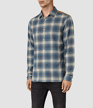 Mens Dresher Check Shirt (Grey Check) - product_image_alt_text_3