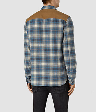 Mens Dresher Check Shirt (Grey Check) - product_image_alt_text_4