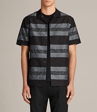 Men's Gabon Short Sleeve Shirt (Black) - Image 1