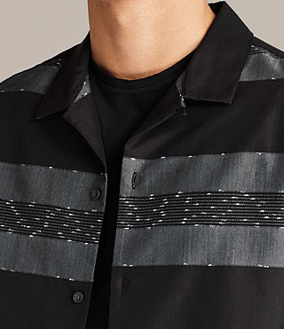 Men's Gabon Short Sleeve Shirt (Black) - Image 2