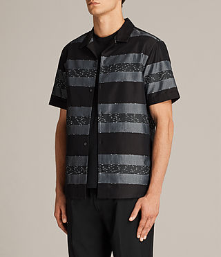 Men's Gabon Short Sleeve Shirt (Black) - Image 3