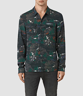 Hombre Redfern Ls Shirt (Washed Black) - product_image_alt_text_1