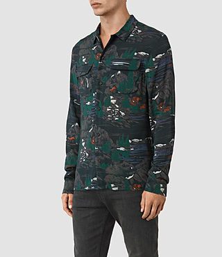 Hombre Redfern Ls Shirt (Washed Black) - product_image_alt_text_2