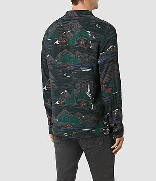Hombre Redfern Ls Shirt (Washed Black) - product_image_alt_text_3