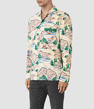 Hombre Redfern Ls Shirt (Ecru) - product_image_alt_text_2