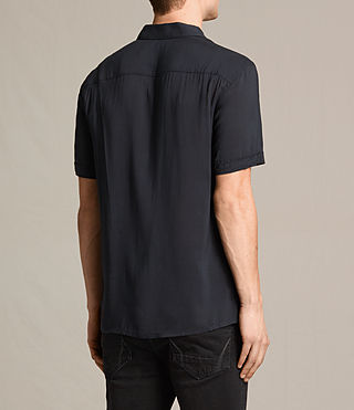 Men's Globus Short Sleeve Shirt (Jet Black) - product_image_alt_text_3