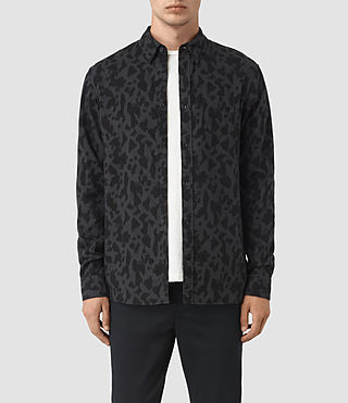 Uomo Camicia Montaud (Charcoal/Black)
