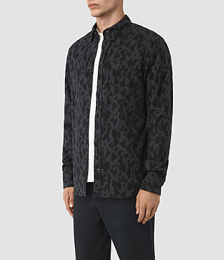 Mens Montaud Shirt (Charcoal/Black) - product_image_alt_text_2