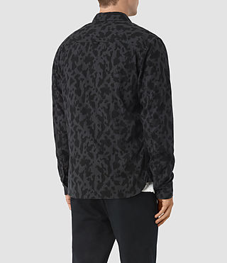 Uomo Montaud Shirt (Charcoal/Black) - product_image_alt_text_3