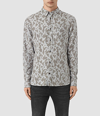 Herren Montaud Shirt (Light Grey Marl)