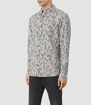 Hommes Montaud Ls Shirt (Light Grey Marl) - product_image_alt_text_2