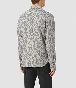 Hommes Montaud Ls Shirt (Light Grey Marl) - product_image_alt_text_3