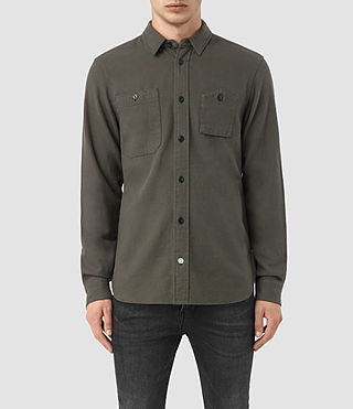 Mens Sereno Shirt (Pewter) - product_image_alt_text_1