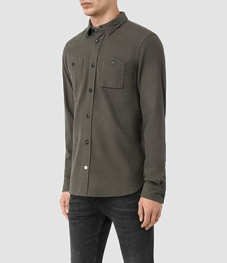 Mens Sereno Shirt (Pewter) - product_image_alt_text_3
