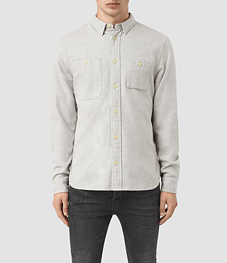 Hombre Sereno Ls Shirt (Smoke Grey) - product_image_alt_text_1