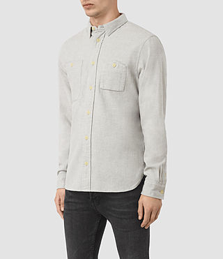 Hombre Sereno Ls Shirt (Smoke Grey) - product_image_alt_text_2