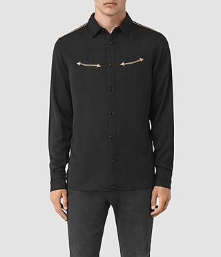 Hombres Bounty Embroidered Shirt (Jet Black)