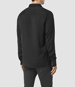 Hombre Bounty Embroidered Shirt (Jet Black) - product_image_alt_text_3