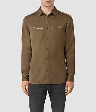 Hombre Bounty Embroidered Shirt (Mushroom) - product_image_alt_text_1