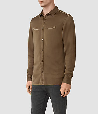 Hombre Bounty Embroidered Shirt (Mushroom) - product_image_alt_text_2