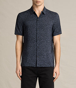 Hombre Reserve Short Sleeve Shirt (Washed Black) - product_image_alt_text_1