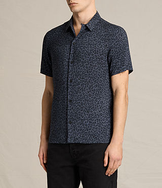 Hombre Reserve Short Sleeve Shirt (Washed Black) - product_image_alt_text_2