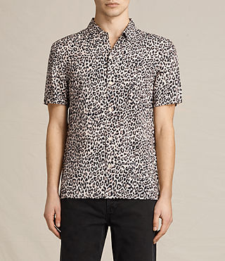 Uomo Reserve Short Sleeve Shirt (SAND BROWN)