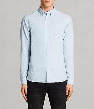 Hombres Camisa Stukeley (Light Blue) -