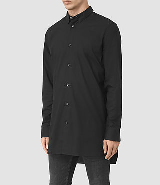 Mens Hollins Shirt (Black) - product_image_alt_text_2