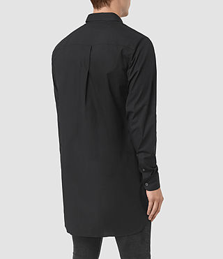 Hommes Hollins Shirt (Black) - product_image_alt_text_3