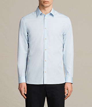 Uomo Camicia Villiers (Light Blue) -